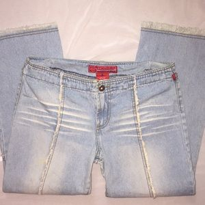 Hot Kiss Jeans - Hot Kiss Ankle Length Distressed Denim 💐 Size 27